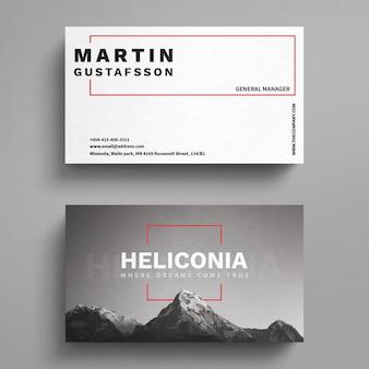 Modelo de cartão de visita de montanhas