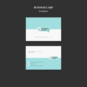 Modelo de cartão de visita de vendas de moda