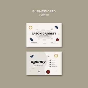 Modelo de cartão de visita do cofundador