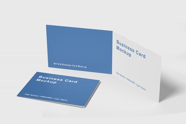 Modelo de cartão-de-visita dobrado