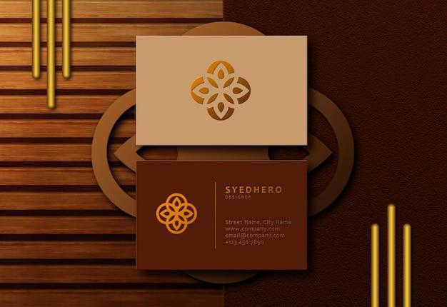 Modelo de cartão de visita editável moderno premium de luxo