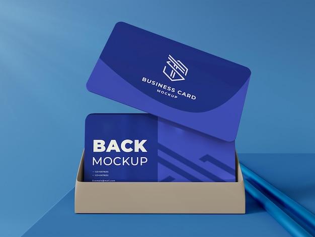 Modelo de cartão de visita elegante 3d
