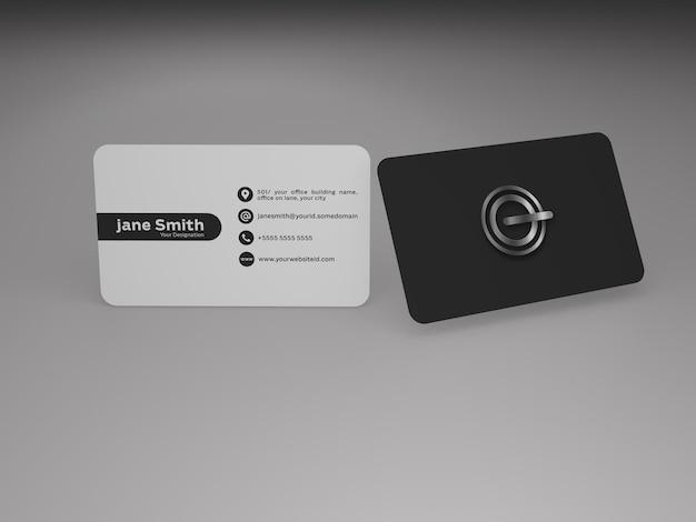 Modelo de cartão de visita elegante