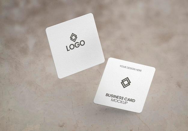 Modelo de cartão de visita em formato quadrado