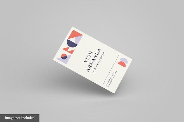 Modelo de cartão de visita flutuante frontal