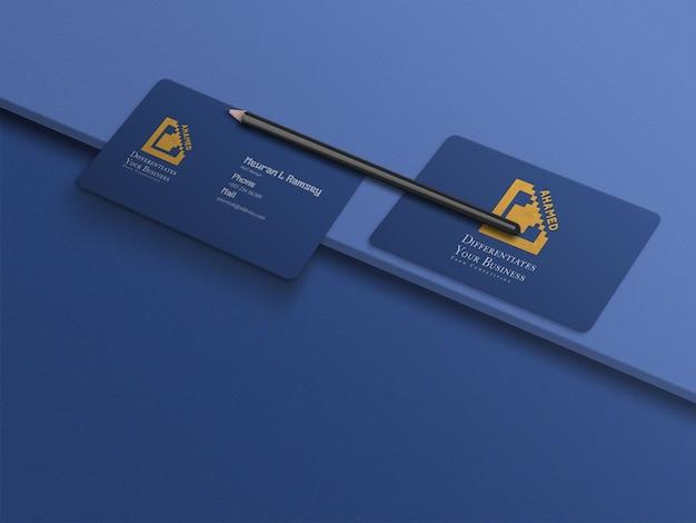 Modelo de cartão de visita flutuante mínimo e limpo com canto arredondado
