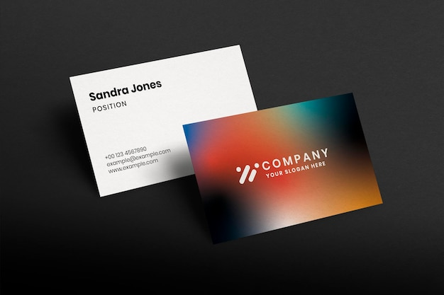 Modelo de cartão de visita gradiente psd colorido tecnologia identidade corporativa