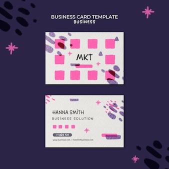 Modelo de cartão de visita horizontal para agência de marketing