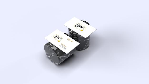 Modelo de cartão de visita isométrico isolado