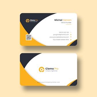 Modelo de cartão de visita limpo