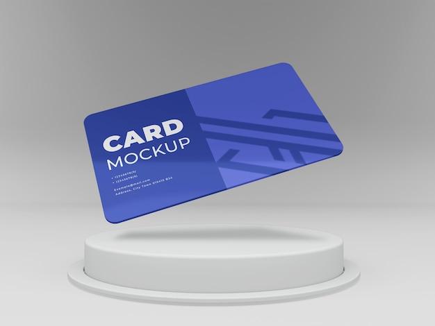 Modelo de cartão de visita mínimo 3d