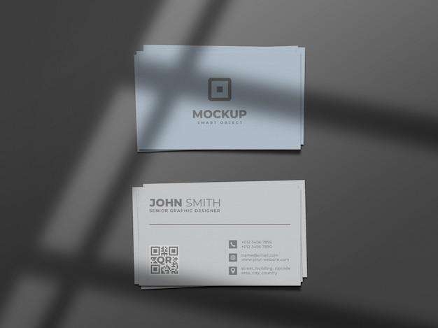 Modelo de cartão de visita mínimo e limpo