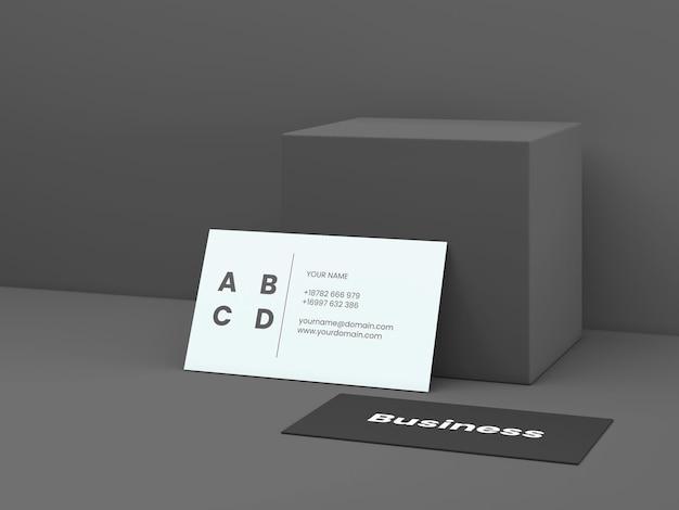 Modelo de cartão de visita mínimo