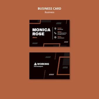 Modelo de cartão de visita moderno