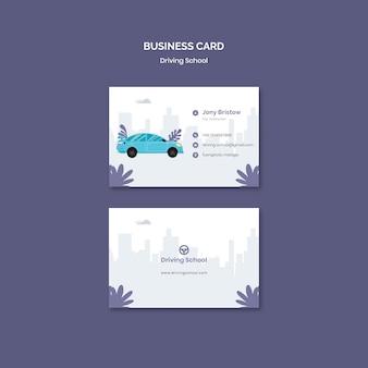 Modelo de cartão de visita para autoescola