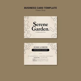Modelo de cartão de visita para floricultura
