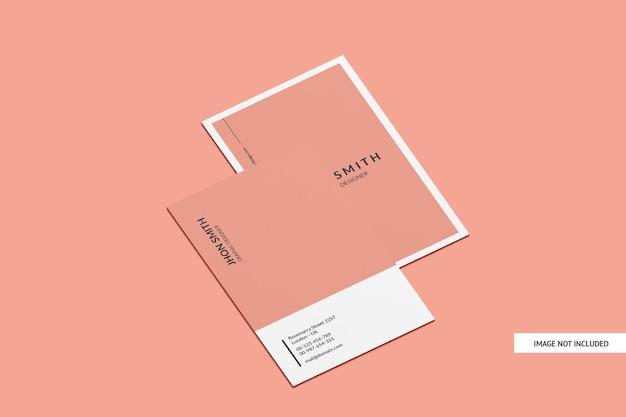 Modelo de cartão de visita potrait isolado