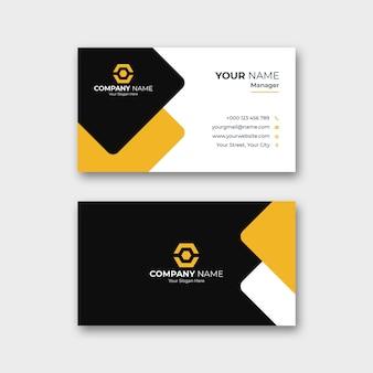 Modelo de cartão de visita profissional corporativo