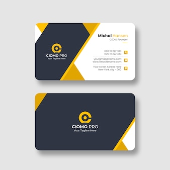 Modelo de cartão de visita profissional limpo