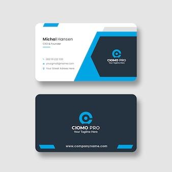 Modelo de cartão de visita profissional