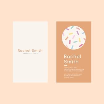 Modelo de cartão de visita psd em padrão de cor pastel suave
