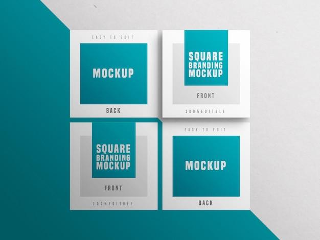 Modelo de cartão de visita quadrado múltiplo