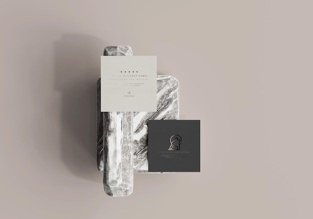 Modelo de cartão de visita quadrado