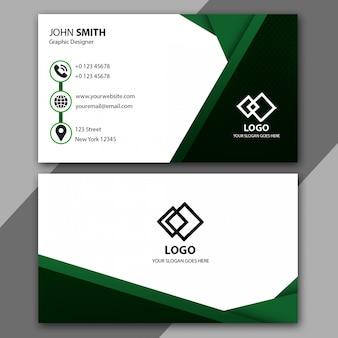 Modelo de cartão de visita verde minimalista