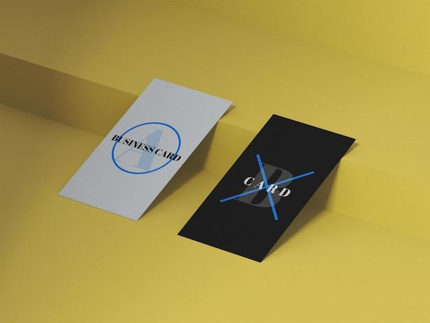 Modelo de cartão de visita vertical