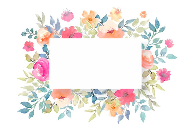 Modelo de cartão em branco floral