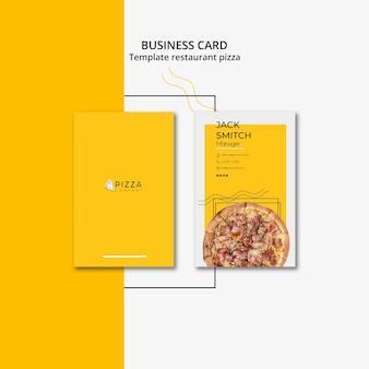 Modelo de cartão para restaurante de pizza