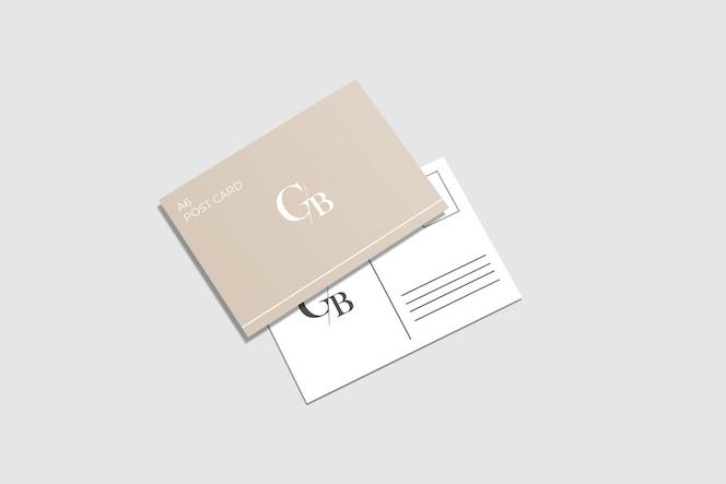 modelo de cartão postal a6