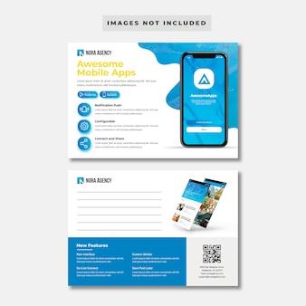Modelo de cartão postal - aplicativo móvel