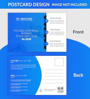 Modelo de cartão postal de empresa criativa
