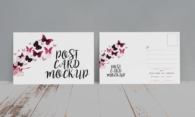 Modelo de cartão postal e convite
