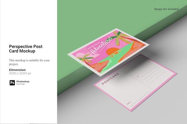 Modelo de cartão postal em perspectiva