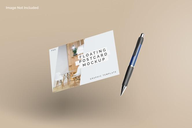 Modelo de cartão postal flutuante