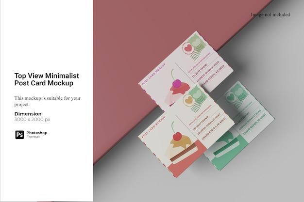 Modelo de cartão postal minimalista da vista superior