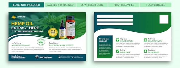 Modelo de cartão postal - produtos de cânhamo