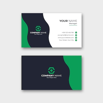 Modelo de cartão profissional e azul