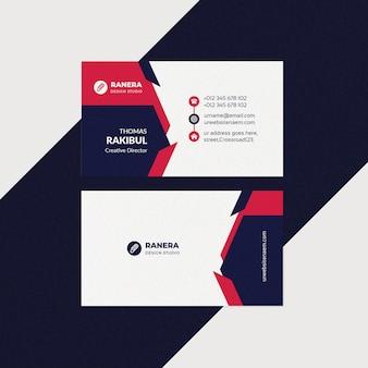 Modelo de cartão simples corporativo
