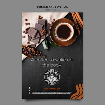 Modelo de cartaz - café Psd grátis