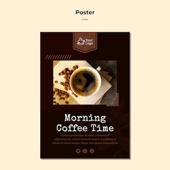 Modelo de cartaz - café