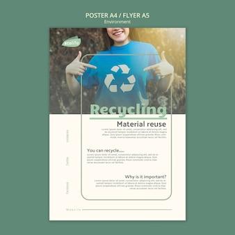 Modelo de cartaz com ambiente
