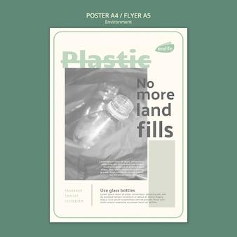 Modelo de cartaz com design de ambiente