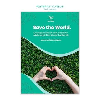 Modelo de cartaz com dia do meio ambiente