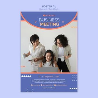 Modelo de cartaz com tema de evento de negócios