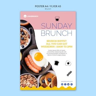 Modelo de cartaz - comida de brunch de domingo