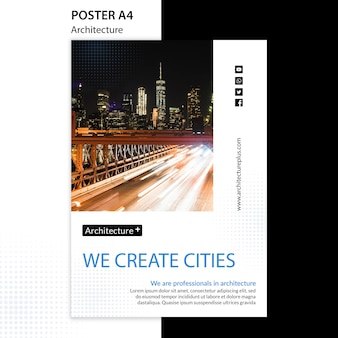 Modelo de cartaz - conceito de arquitetura