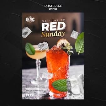 Modelo de cartaz - conceito de bebidas